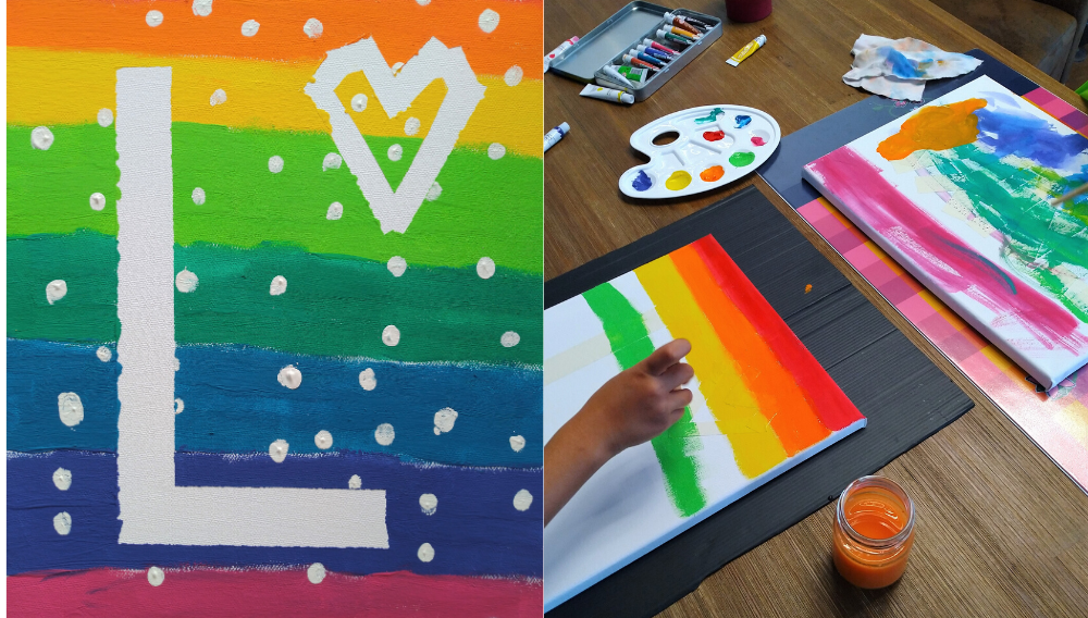 DIY Canvas Art For Kids